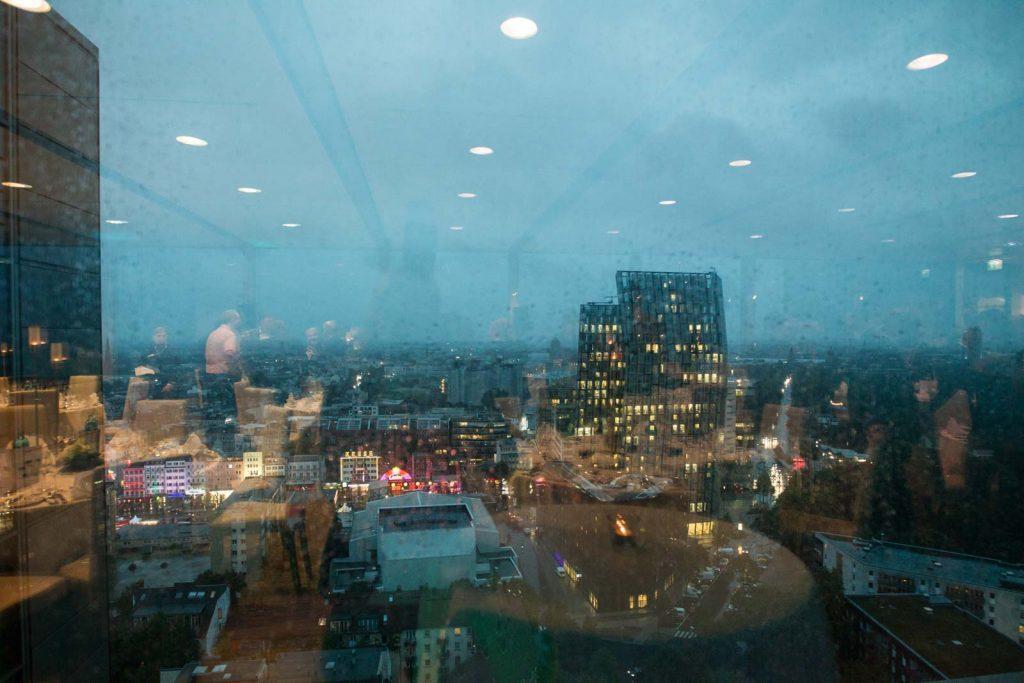 Ausblick über Hamburg, tanzende Türme