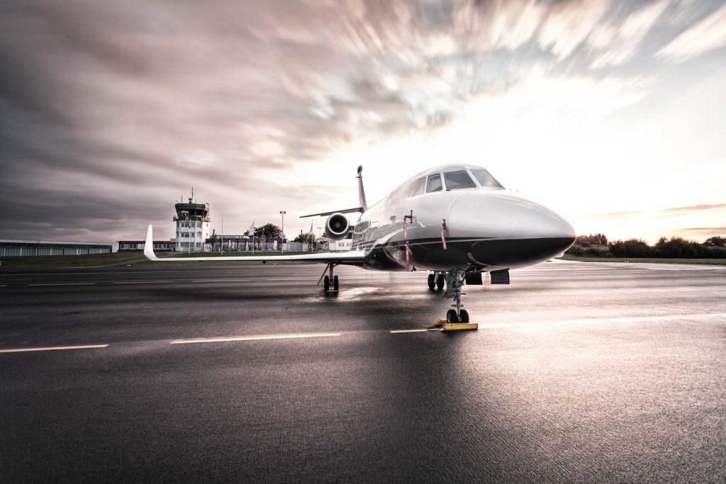 Privatflugzeug am Siegerlandflughafen