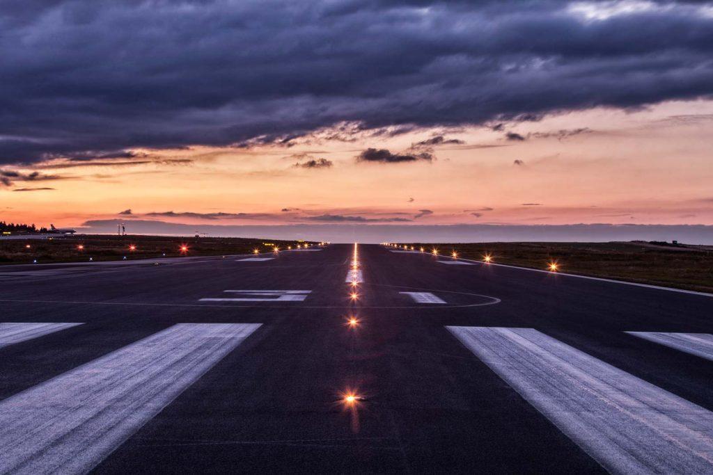 Start- und Landebahn des Siegerlandflughafens